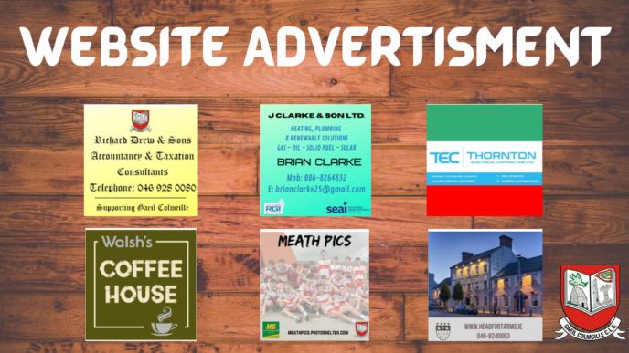 Advertise on GaeilColmcille.ie